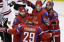 Ruská radost po gólu.