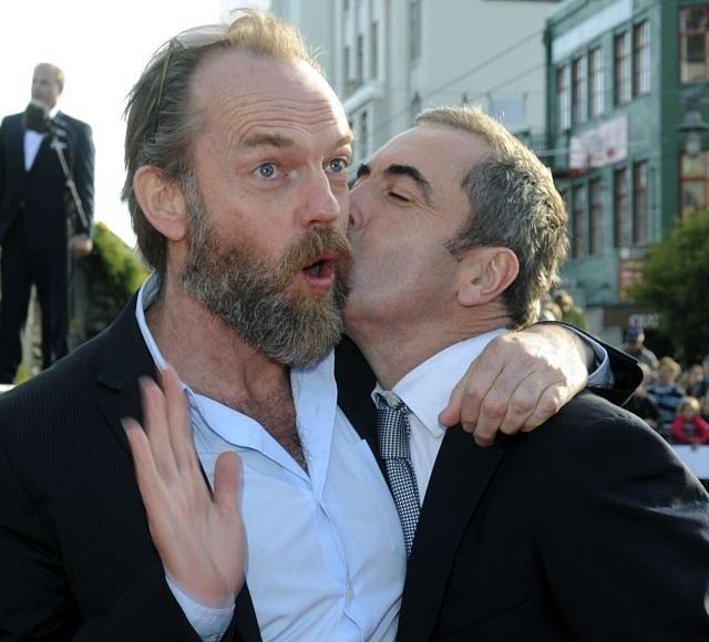 Netrpělivě očekávaná premiéra blockbusteru Hobit: Neočekávaná cesta se odehrála 28. listopadu v Embassy Theatre v novozélanském Wellingtonu. Na snímku Elrond půlelf - Hugo Weaving