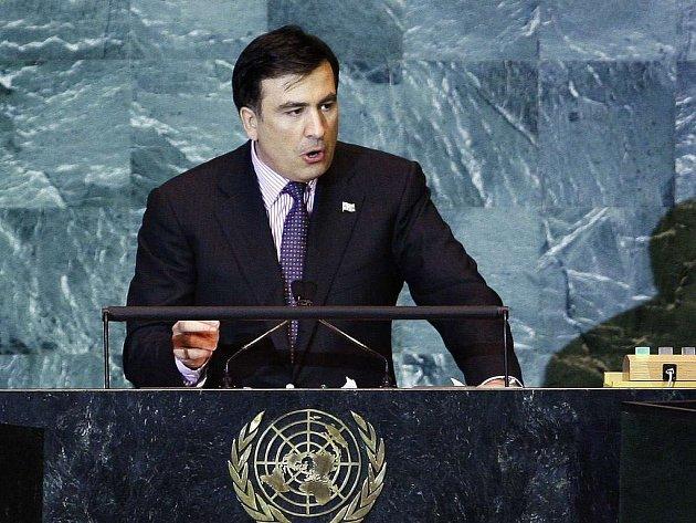 Michail Saakašvili v OSN