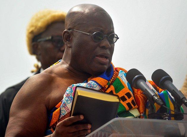Ghanský prezident Nana Akufo-Addo při inauguraci