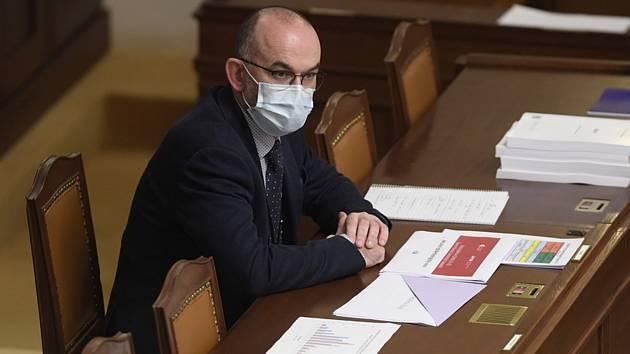 Schůze Poslanecké sněmovny, 30. října 2020 v Praze. Na snímku je nový ministr zdravotnictví Jan Blatný