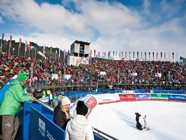 V Schladmingu je o MS v alpském lyžování velký zájem.
