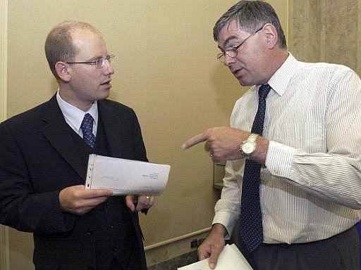 Bohuslav Sobotka a Jaroslav Palas