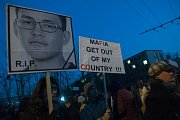 Demonstrace po vraždě Jána Kuciaka