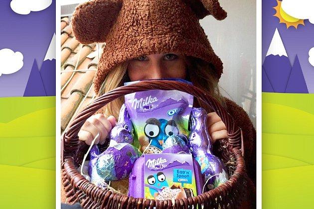 Ester Ledecká s čokoládovou nadílkou.