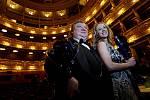 Cenu za mimořádný činoherní výkon získali na předávání cen Thalie za rok 2008 Petra Hřebíčková a Norbert Lichý.