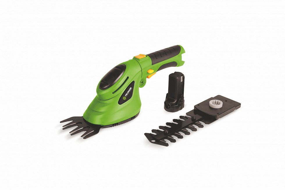 Akumulátorové nůžky na trávu a keře Fieldmann FZN 4101-A, 649 Kč.