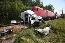 Železniční nehoda - ilustrační foto.