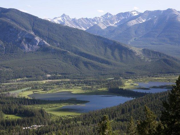 Horský národní park v Banff.