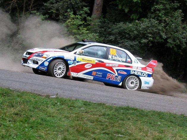 Martin Semerád na trati srpnové Barum rallye.