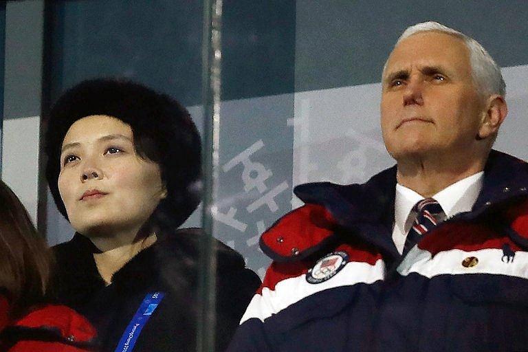Americký viceprezident Mike Pence na olympiádě v Pchjongčchangu v Jižní Koreji.