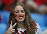 Marocká fanynka. Fotbalové MS Rusko 2018