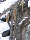 Ledopády v Národní přírodní rezervaci Pulčín–Hradisko
