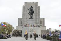 Pietní akt při příležitosti svátku Dne vzniku samostatného československého státu se uskutečnil 28. října na pražském Vítkově.