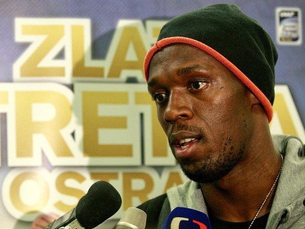 Usain Bolt dorazil do Ostravy