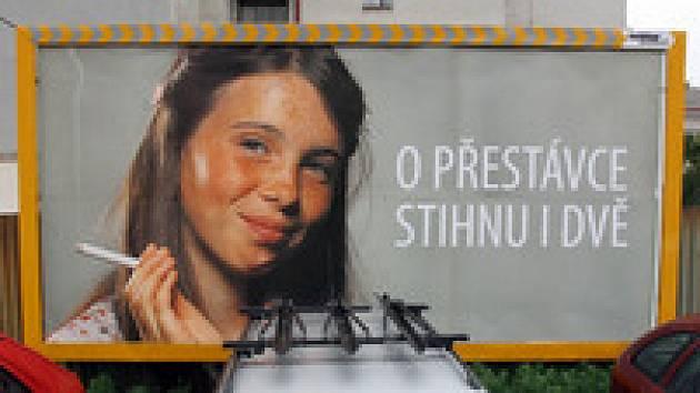 Billboard proti kouření dětí