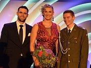Vítězná trojice. Anketu Atlet roku vyhrála Barbora Špotáková před druhým Janem Kudličkou a třetím Pavlem Maslákem.