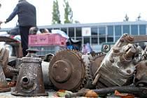 Část brněnského výstaviště ovládli sběratelé a prodejci starých strojů.