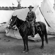 Calamity Jane na koni 1. ledna 1901