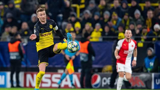 Utkání mezi Borussií Dortmund a Slavií