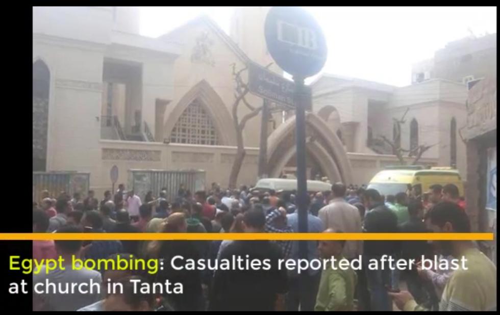 Výbuch u kostela v Káhiře na severu Egypta