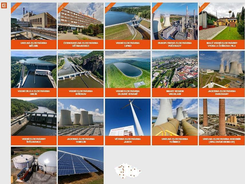elektrárny ČEZ