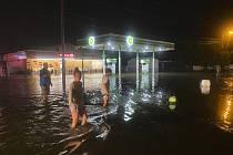 Záplavy po bouři v North Myrtle Beach