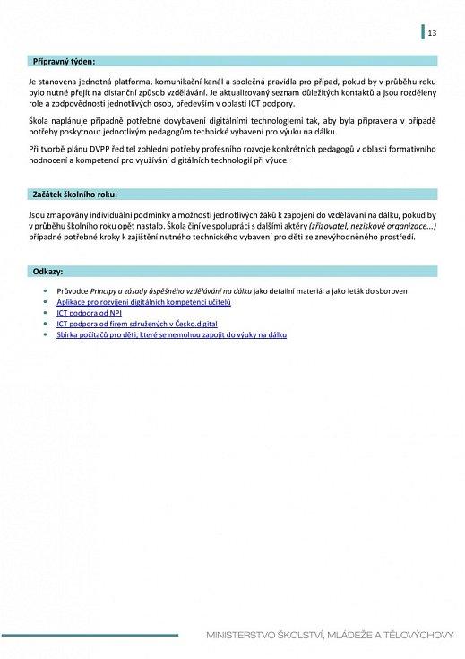 Manuál pro výuku na školách v době koronaviru - strana 13