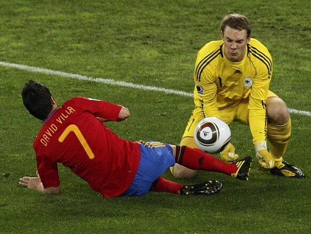 Semifinále MS 2010 ve fotbale: Němcko-Španělsko.