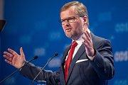 V Brně pokračoval 4. listopadu 23. kongres ODS. Premiér Petr Nečas, který obhajuje svůj post v čele strany, vystoupil s kandidátským projevem před volbou předsedy.