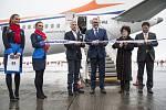 Křest nového letadla Travel Service. 1.2.2018