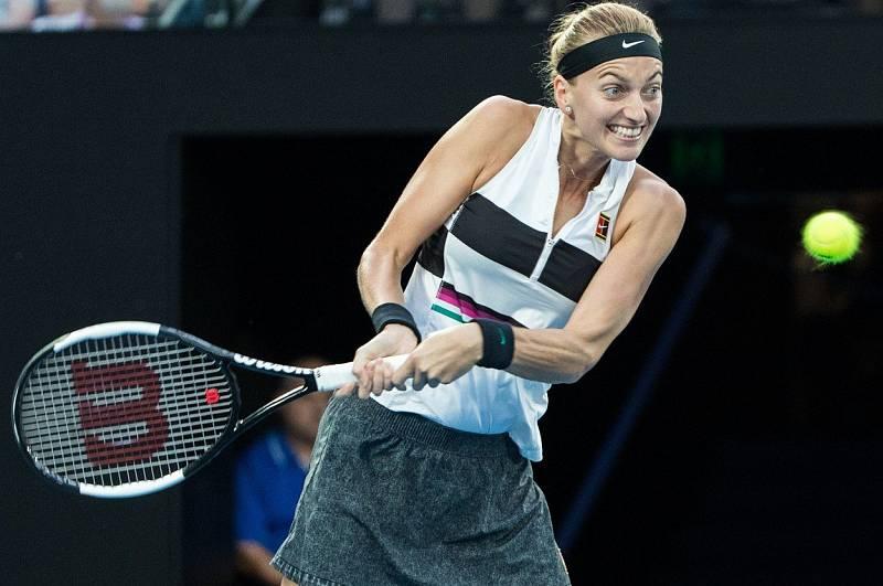 Petra Kvitová během finále Australian Open