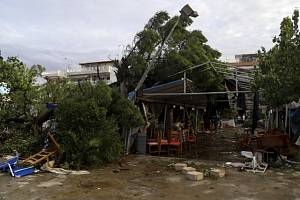 Řecko zasáhly silné bouře.