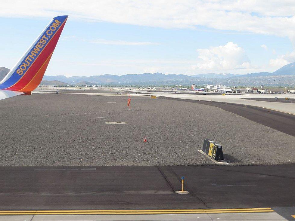 Letiště Reno/Tahoe International Airport, v jehož blízkosti došlo ke katastrofě