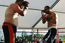 Dalibor Špoták (vpravo) v ringu