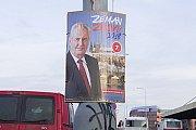 Předvolební plakáty Zeman znovu 2018