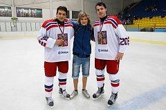 Po výhře na Memoriálu Ivana Hlinky v roce 2016 s Chytilem a Galvasem.