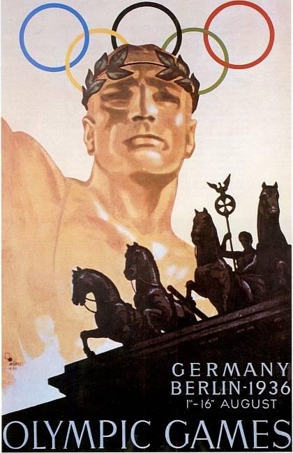 Oficiální plakát olympijských her v Berlíně v roce 1936.
