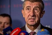 Sledování výsledků krajských a senátních voleb ve volebním štábu ANO, 8. října v Praze. Andrej Babiš