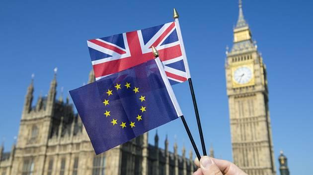 Brexit. Budova britského parlamentu. Ilustrační snímek