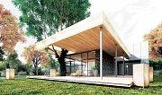 V novém domě najdou majitelé zajímavé architektonické prvky. Například prosklené atrium dostupné z koupelny, vinný sklep či strom prorostlý střechou terasy.