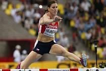 Překážkářka Zuzana Hejnová si běží ve finále MS v Moskvě pro zlato.
