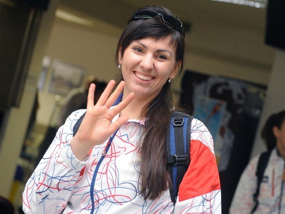 Střelkyně Lenka Marušková před odletem na olympijské hry do Londýna.