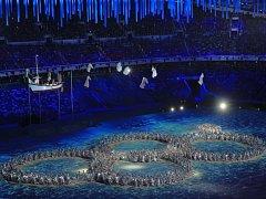 Slavnostní zakončení olympijských her v Soči.
