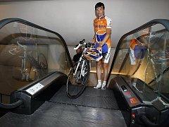 Denis Meňšov při prezenatci týmu Rabobank před Tour de France.