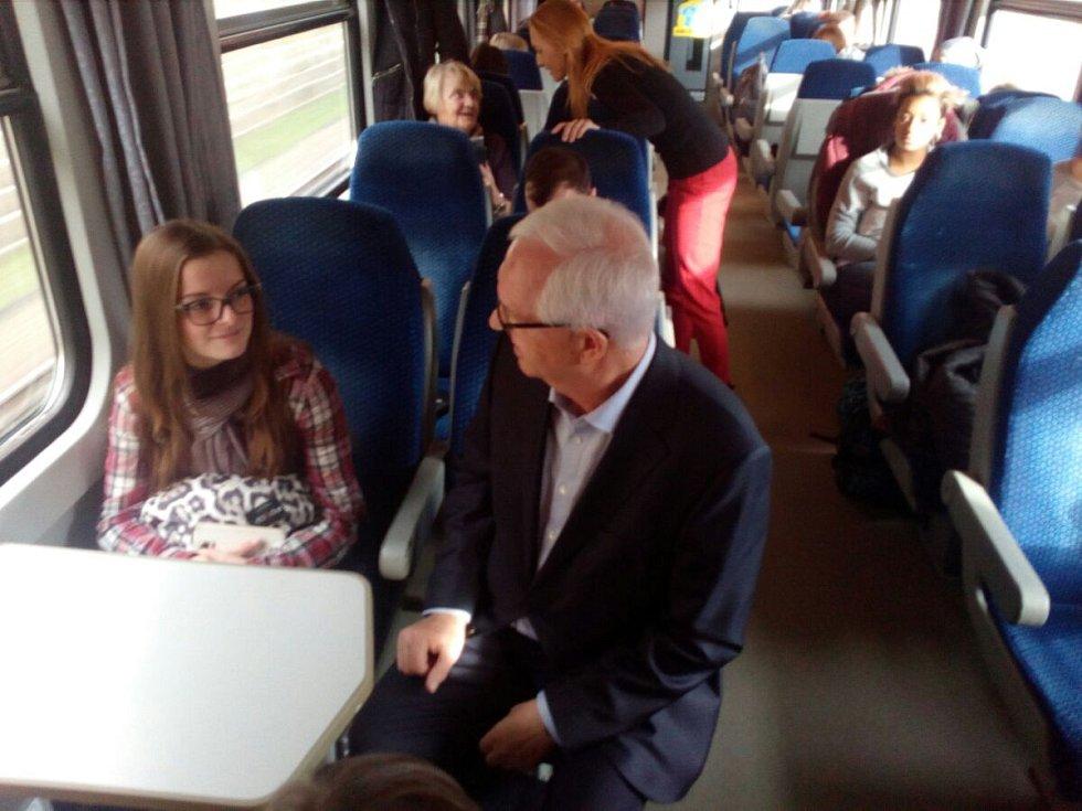 Jiří Drahoš v prezidentském vlaku