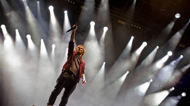 ED Sheeran na Southside Festivalu v Německu v červnu 2014.