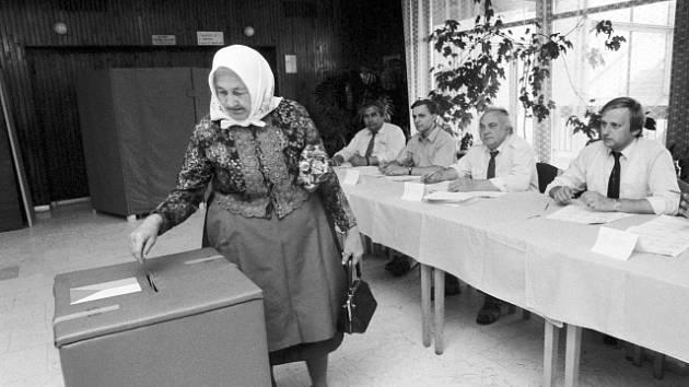 Volby v Československu. Ilustrační snímek