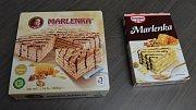 Originální medový dort Marlenka a dort Marlenka v prášku od Dr. Oetkera - předmět sporu Avetisjana s mezinárodním koncernem