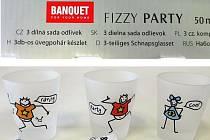 Třídílná sada skleniček Fizzy Party.